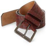 Jimmy Choo Croc-Embossed Leather Belt
