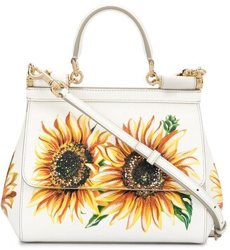 Dolce & Gabbana sunflower motif Sicily shoulder bag