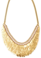 Deepa Gurnani Feather & Crystal Statement Necklace