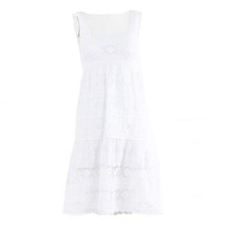 Oscar de la Renta \N White Linen Dresses