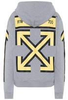 Off-White Printed cotton jersey hoodie