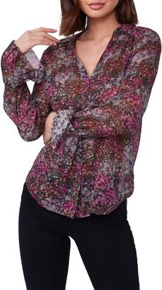 Paige Abriana Long Sleeve Silk Blouse