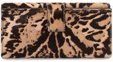 Alexander McQueen Leopard Pony Short Skull Wallet