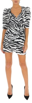 ATTICO Zebra Print Mini Dress