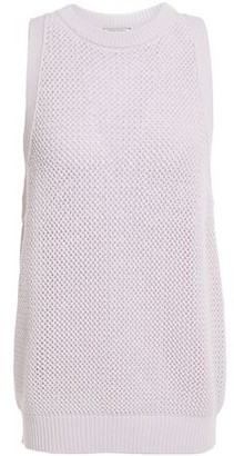 Nina Ricci Open-knit Cotton And Cashmere-blend Top
