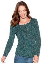 M&Co Lace shoulder long sleeve top