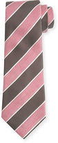 Isaia Pastel Wide-Stripe Silk Tie