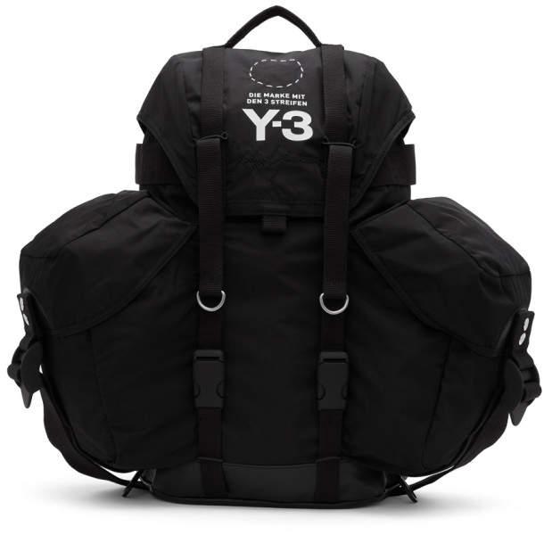 Y-3 Y 3 Black Utility Backpack