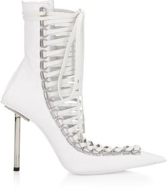 Balenciaga Corset Stiletto Leather Booties