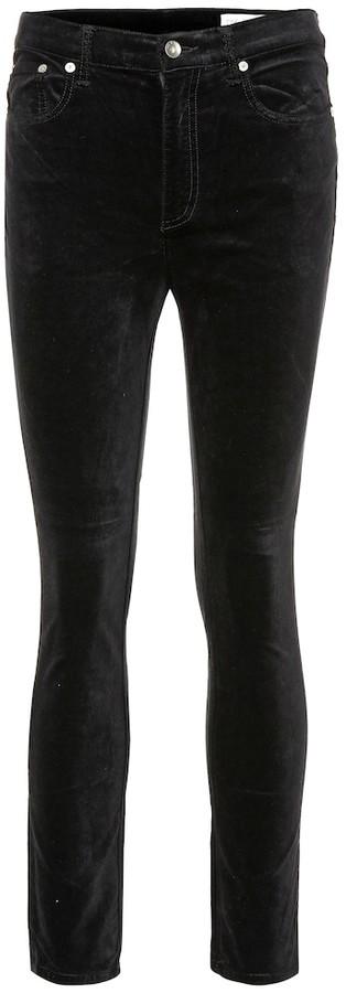 e36c811c59f06 Black Velvet Skinny Jeans - ShopStyle