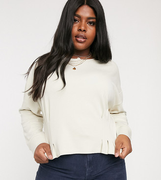 Neon Rose Plus sweatshirt with fitted waist