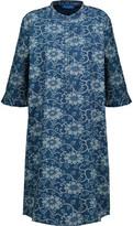 MiH Jeans Becca Ruffled Floral-Print Cotton-Chambray Shirt Dress