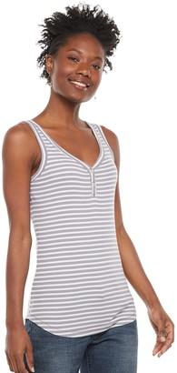 Sonoma Goods For Life Women's Y-Neck Rib Tank