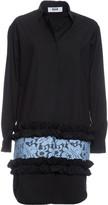 MSGM Lace Insert Shirt Dress