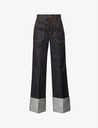 ANDERSSON BELL Mona flared high-rise denim jeans