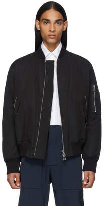 Bottega Veneta Black Woven Bomber Jacket