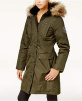 Madden-Girl Juniors' Faux-Fur-Trim Parka, Created for Macy's