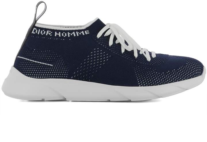 Christian Dior Blue Fabric Sneakers