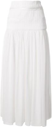 CHRISTOPHER ESBER Sheer Ruched Skirt