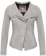 Hugo Boss Jopida Suede Goat Leather Jacket 4 Grey