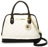 Betsey Johnson Pleated Medium Dome Satchel