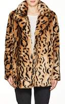 7 For All Mankind WOMEN'S LEOPARD-PRINT FAUX-FUR COAT