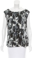 Lela Rose Printed Silk Top