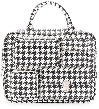 Comme des Garcons Houndstooth-Print Tote