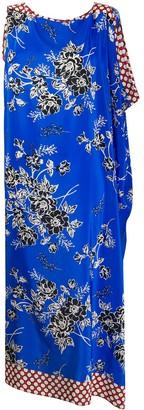 P.A.R.O.S.H. Contrast Panel Midi Dress