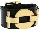 CC SKYE Single Mac Link Leather Cuff w/ 18K Gold plated