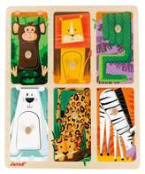 Janod Tactile Puzzle - Zoo Animals