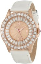 Betsey Johnson Women's BJ00004-07 Analog Patent Leather Strap Watch