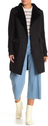Love Token Faux Fur Sweater Back Jacket