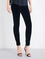 Armani Jeans Skinny high-rise velvet jeans