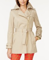MICHAEL Michael Kors Petite Belted Front-Zip Trench Coat