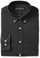 Nick Graham Men's Slim Fit Print Dress Shirt