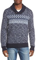 Lucky Brand Men's Snowshoe Shawl Collar Sweater