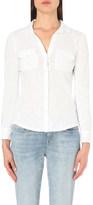 The White Company Cotton-jersey shirt