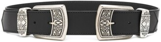 Etro Engraved Double-Buckle Belt