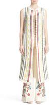 Alice + Olivia Rudy Stripe Knit Maxi Vest