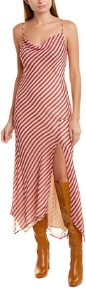 Lavender Brown Cowl Neck Shift Dress