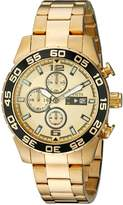 Invicta Men's 1016 II Collection Chronograph Dial 18k -Plated Stainless Steel Watch