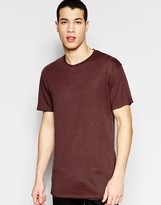 Jack and Jones Longline Crew Neck T-Shirt