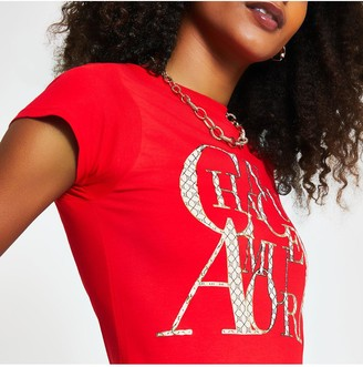 River Island Chanceux T-shirt - Red