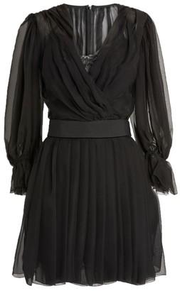 Dolce & Gabbana V-Neck Mesh Midi Dress