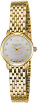 Frederique Constant FC200WHDS5B Slimline Mini yellow gold-plated stainless steel and diamond watch