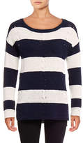 Two By Vince Camuto Stripe Cable Stitch Pullover