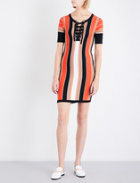Claudie Pierlot Madrid striped knitted dress