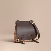 Burberry The Bridle Crossbody Bag in Haymarket Check