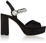 Miu Miu Women's Crystal-Embellished Platform Sandals
